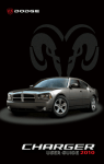 2010 Dodge Charger User`s Manual