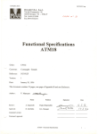 Functional Specifications ATM18