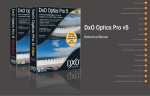 User Manual - DxO Optics Pro v5.1
