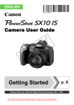 Canon PowerShot SX10 IS User`s Manual
