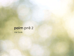 Palm Pre 2 User Guide