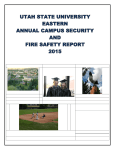 2015 Annual Campus Security and Fire Safety Report