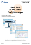 DAQ Manager Quick Guide