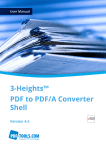 3-Heights™ PDF to PDF/A Converter Shell, User Manual