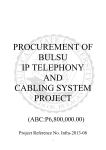 procurement of bulsu ip telephony and cabling system project