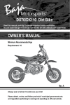 OWNER`S MANUAL DX70/DX110 Dirt Bike