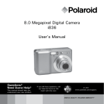 8.0 Megapixel Digital Camera i836 User`s Manual