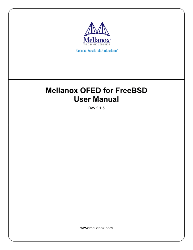 Mellanox OFED for FreeBSD User Manual