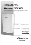 User manual for Greenstar Si