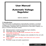 User Manual Automatic Voltage Regulator