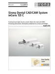 Sirona Dental Cad/Cam System inCoris TZI C Users Manual