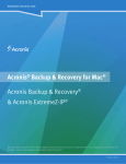 Acronis® Backup & Recovery for Mac® Acronis Backup & Recovery