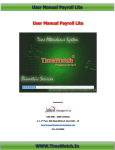 User Manual Payroll Lite WWW.TimeWatch.In User Manual Payroll