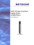 N600 Wireless Dual Band Gigabit Router WNDR3700v4 User Manual