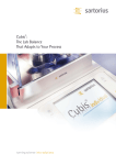 Cubis®: The Lab Balance That Adapts to Your Process