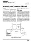 MC683xx to NEURONR CHIP Parallel I/O Interface - Rcl