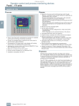 Operator control and process monitoring devices