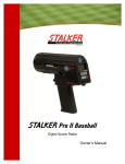 New Manual - Stalker Radar