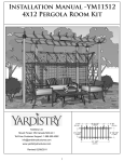 Installation Manual -YM11512 4x12 Pergola Room Kit