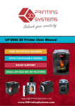UP Mini 3D Printer User Manual