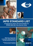 IAPB STANDARD LIST - Lions Clubs International Foundation