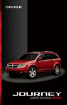 2010 Dodge Journey User`s Guide