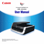 DR-2020U User Manual