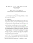 The Making of a Geometric Algebra Package in Matlab
