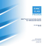 EMC Host Connectivity Guide for VMWare ESX Server