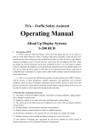 TSA—Traffic Safety Assistant Operating Manual - Sunsky