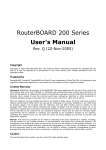 RouterBOARD 200 Series User`s Manual