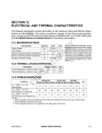 SECTION 12 ELECTRICAL AND THERMAL CHARACTERISTICS