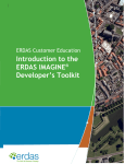 Introduction to the ERDAS IMAGINE® Developer`s Toolkit