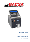 120403 User manual BLP-3000 Series Labellers