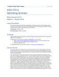 CISS 370 A Operating Systems