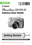 Canon PowerShot SX110 IS User Guide Manual pdf