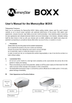 MemoryStar BOXX Manual