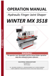 MX3518 Finger Joint Shaper