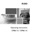 Operating instructions OP8611S / OP8611A