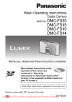 Panasonic Lumix DMC-FS14 User Guide Manual pdf