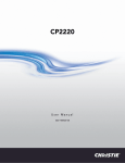 Christie CP2220 User Manual
