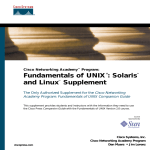 Fundamentals of UNIX®: Solaris™ and Linux