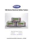 V60 Series Electrical Safety Testers Operating