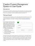 Catalyst Content Management System 4.x User