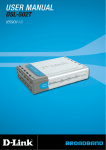 DLink DSL502T Manual - AuNix Internet and Telecom