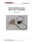 HIGH TEMPERATURE REACTION CHAMBER