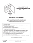 Model CEPS-850 Installation Instructions & User Manual