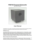 PSW100 Powered Subwoofer User Manual