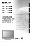 Sharp LC-26SA1E user manual Tv User Guide Manual Operating