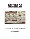 For Windows VST and MAC VST/AU hosts V2 User Manual